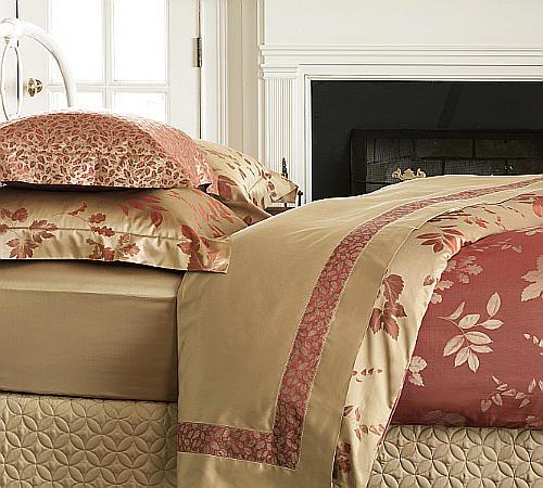 Uuu Nancy Koltes Linens Foglia Ribbon Bed Sheets